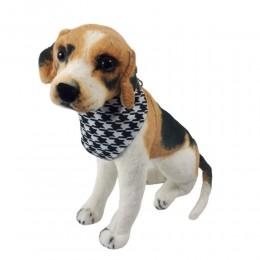 Obroża dla psa z chustą BANDAMA biało-czarna / obroża z chustką