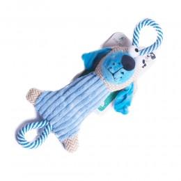 Sztruksowy szarpak gryzak zabawka dla psa PIES