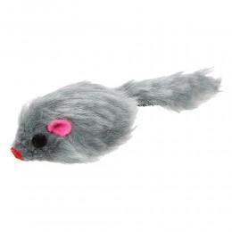 Zabawka dla kota kociąt pluszowa szara mysz myszka