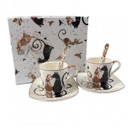 Dwie filiżanki do espresso KOTY 100ml / filiżanki do ekspresso w koty