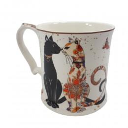 Ceramiczny kubek w koty 350ml / kubek na prezent ZAKOCHANE KOTKI