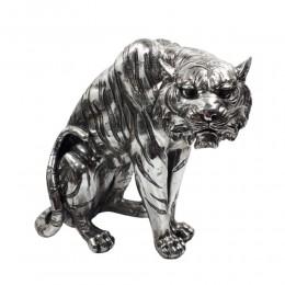 Figurka tygrys srebrny / figurka glamour tygrysa / tygrys figurka