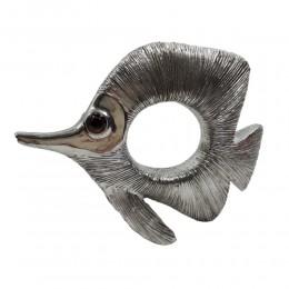 Rzeźba figurka ryba srebrna /ryba figurka dekoracyjna glamour prezent
