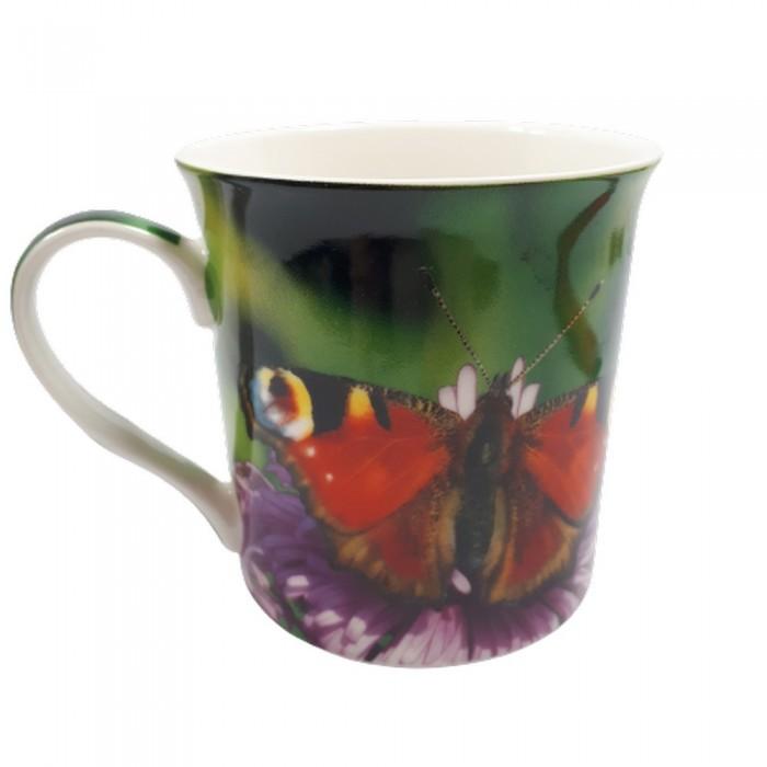 Ceramiczny kubek do kawy MOTYL Rusałka pawik poj. 300ml