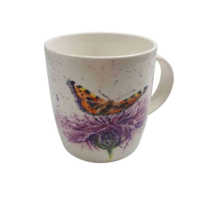 Kubek ceramiczny na prezent MOTYL / wiejski kubek z motylem