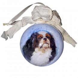 Bombka decoupage na sprzedaż pies CAVALIER KING CHARLES SPANIEL