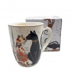 Duży ceramiczny kubek z kotami 400ml / kubek w koty na prezent