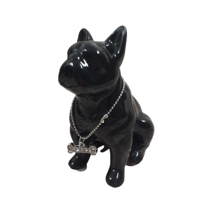 Figurka pies Buldog francuski / czarna figurka buldoga francuskiego