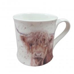 Ceramiczny kubek z krową highland cattle / kubek na prezent