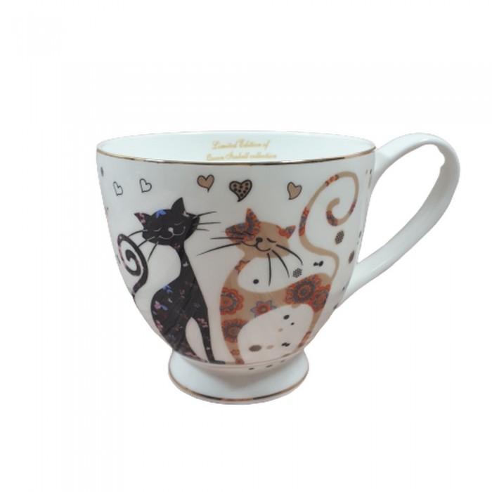 Duża filiżanka w koty 400ml / filiżanka do kawy herbaty z kotem