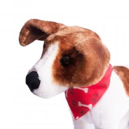 Czerwona obroża z chustą dla psa kota / obroża z bandamką dla psa