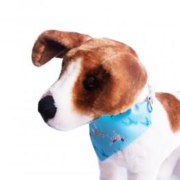 Błękitna obroża z bandamką dla psa 30-40cm / obroża z chustą dla psa