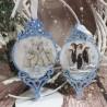 Bożonarodzeniowe bombki ażurowe decoupage niebieskie sprzedam