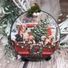 Zawieszka świąteczna bombka drewniana decoupage sprzedam LABRADORY