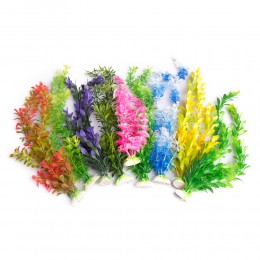Duża sztuczna roślina do akwarium z korzonkami 30 cm
