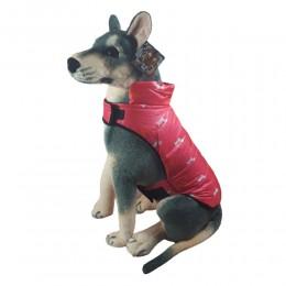 Ciepła kurtka dla psa na deszcz zapinana na rzepy rozm. L