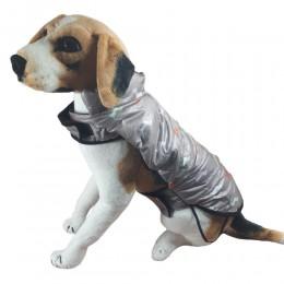 Ciepła kurtka dla psa na deszcz zapinana na rzepy rozm. XL