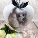 Bombka świąteczna z motywem psa PUDLA / bombka decoupage pudel