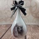 Bombka świąteczna łezka z motywem psa PUDLA / bombka decoupage pudel
