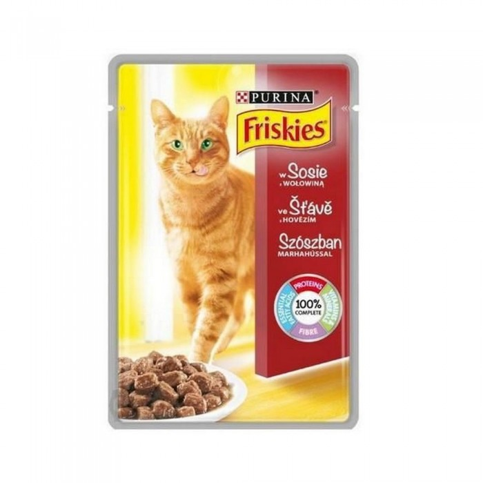 FRISKIES saszetka dla kota WOŁOWINA w sosie 100g