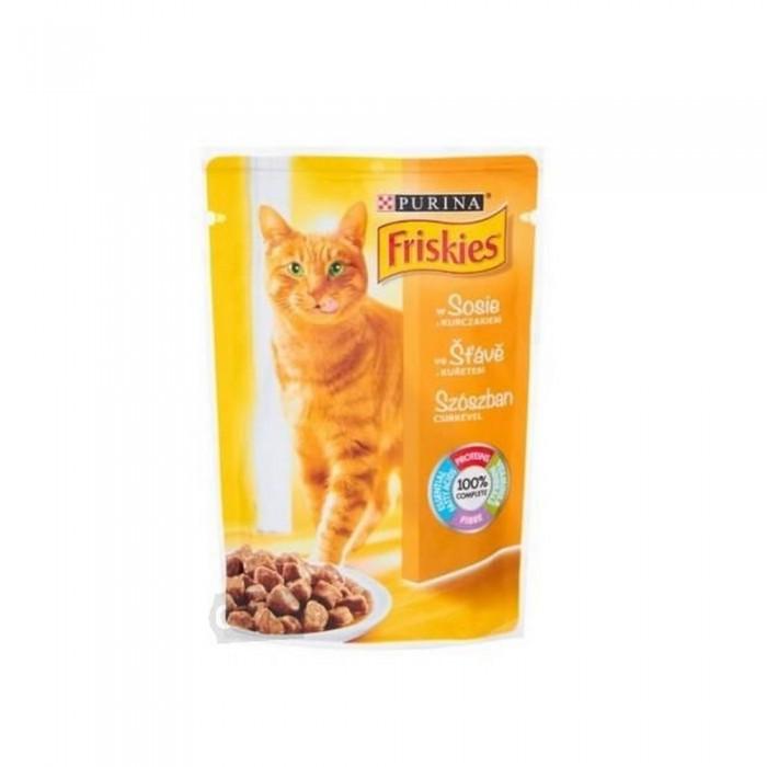 FRISKIES saszetka dla kota KURCZAK w sosie 100g