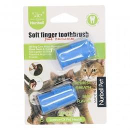 Szczoteczka do mycia zębów dla psów i kotów nakładana na palec