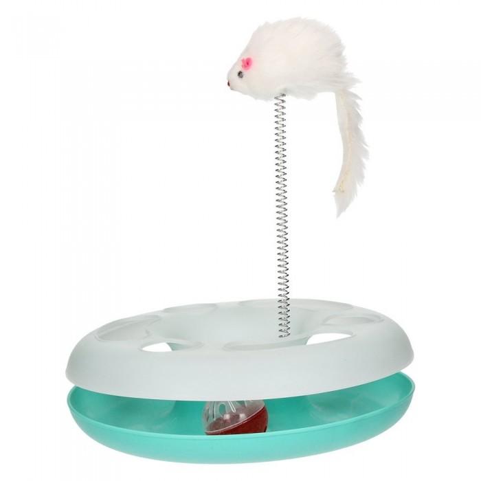 Zabawka tor z piłką i myszką na sprężynie