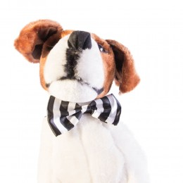 Mucha muszka dla psa kota biało-czarne paski