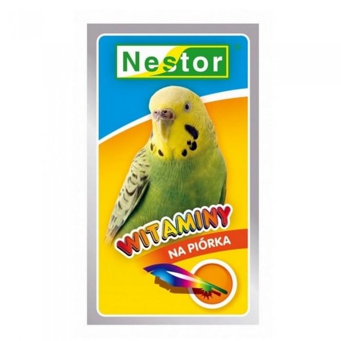 Nestor Witaminy Na Piórka Dla Małych Papug 20 G Mieszanka Ziaren