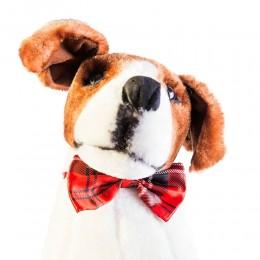 Mucha muszka dla psa kota czerwona w kratę