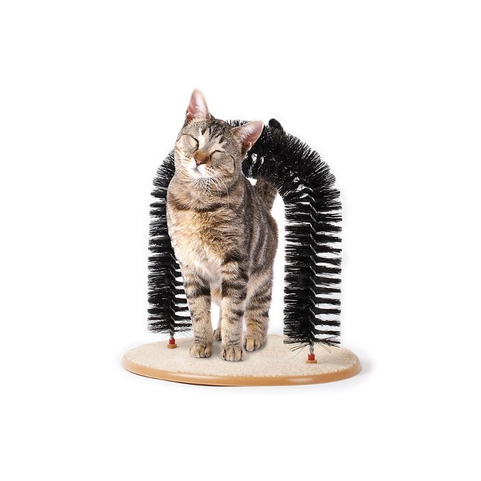 Purrfect Arch dla kota 3in1 drapak czyścik szczotka dla kotów