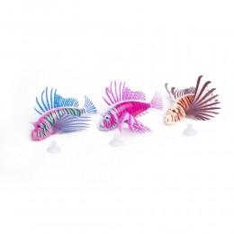 SKRZYDLICA ozdobna błyszcząca sztuczna rybka ozdoba do akwarium