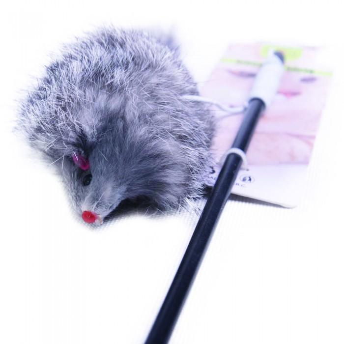 Wędka z myszką dla kota