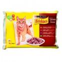 PURINA Friskies mięsne saszetki dla kota 4x100g