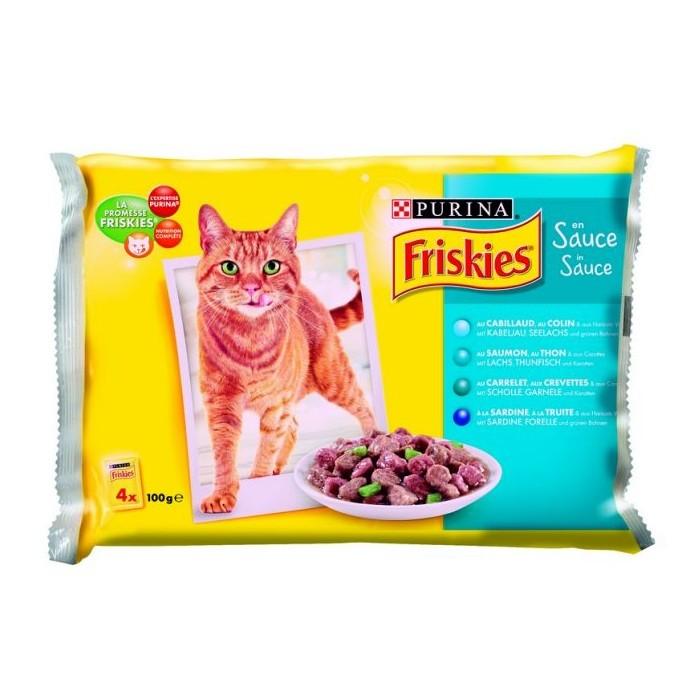 PURINA Friskies rybne saszetki dla kota 4x100g