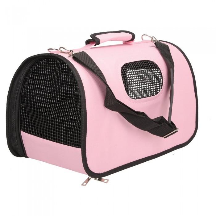 Mała różowa torba transportowa dla zwierząt