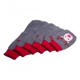 Świąteczny szary sweterek ubranko dla psa RENIFER