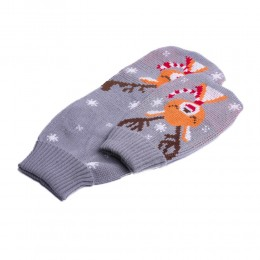Szary świąteczny sweterek ubranko dla psa z RENIFEREM