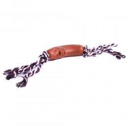 Zabawka gryzak dla psa KIEŁBASA NA SZNURKU 35cm