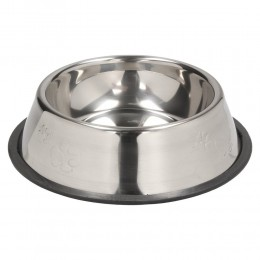 Duża metalowa miska dla psa na gumie 30 cm