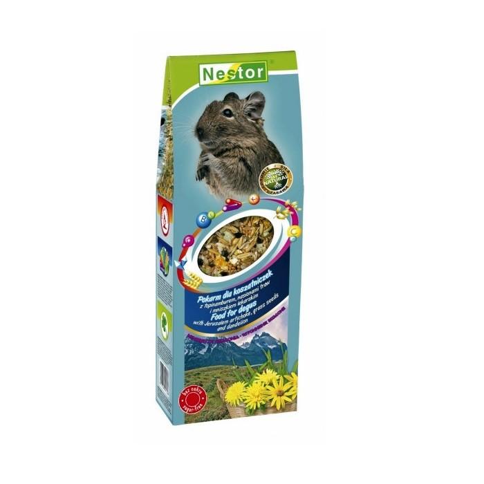 Nestor pokarm dla KOSZATNICZEK z topinamburem nasionami traw i mniszkiem lekarskim