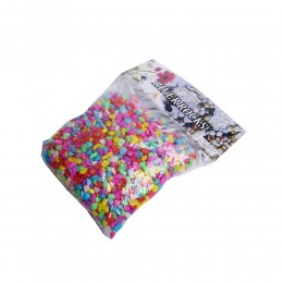 Małe kolorowe kamyczki kamienie do akwarium dekoracja akwarium
