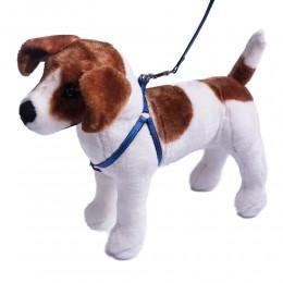 Komplet szelki i smycz dla małego średniego psa ze świecąca nitką