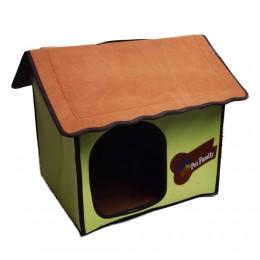 Zielony domek budka buda legowisko dla małego psa kota z filcu