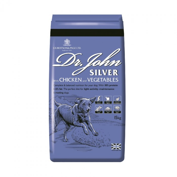 Dr John Silver Chiken with Vegatables sucha karma dla psów starszych