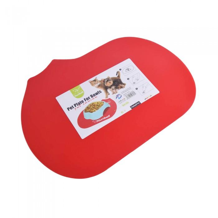 czerwona mata podkładka pod miski dla kota antypoślizgowa