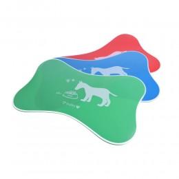 plastikowa podkładka mata pod miski dla psa KOŚĆ