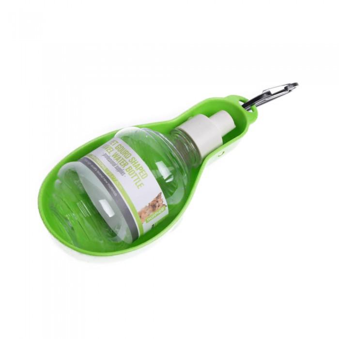 zielony bidon butelka turystyczna z miską na wodę dla psa ml