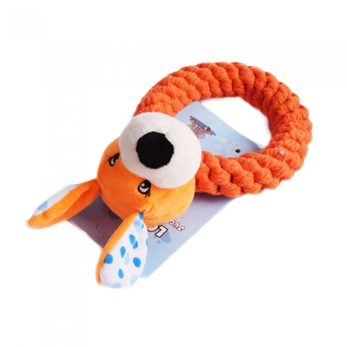 Zabawka gryzak kółko ZWIERZAK na sznurku szarpak dla psa