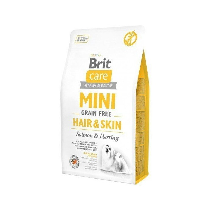 BRIT CARE MINI GRAIN FREE HAIR&SKIN 2kg sucha karma dla psów